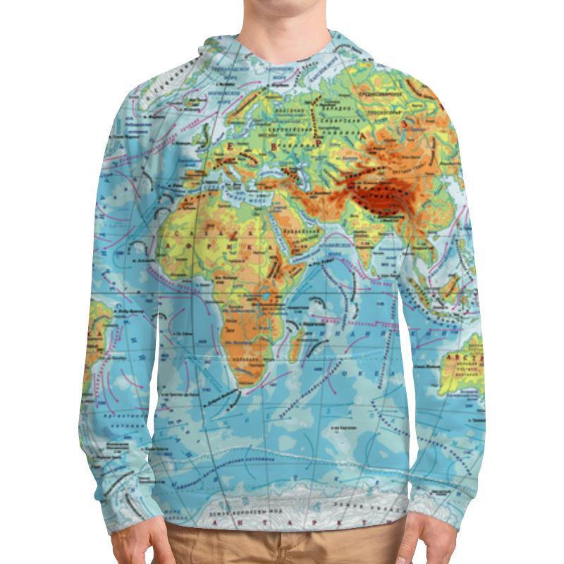 Толстовка с полной запечаткой Printio Карта мира цена и фото