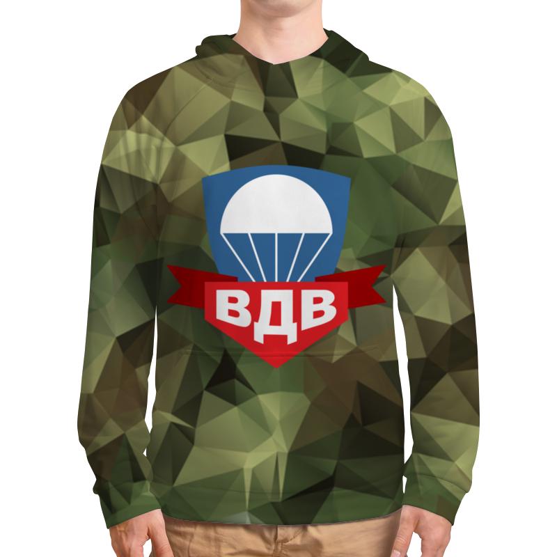 Толстовка с полной запечаткой Printio Воздушно-десантные войска флаг пограничных войск россии великий новгород