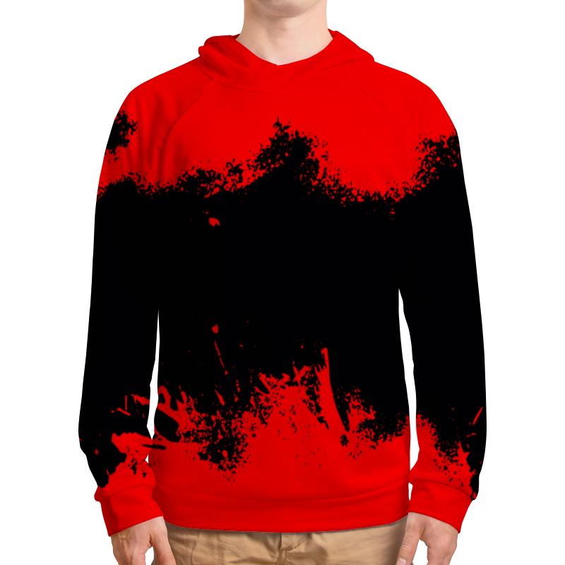 Толстовка с полной запечаткой Printio Черно-красные краски bebendorff ботинки зимние карл черно красные
