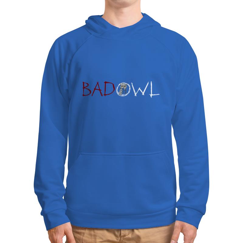 Толстовка с полной запечаткой Printio Bad owl - blue sky top with ruffle color sky blue