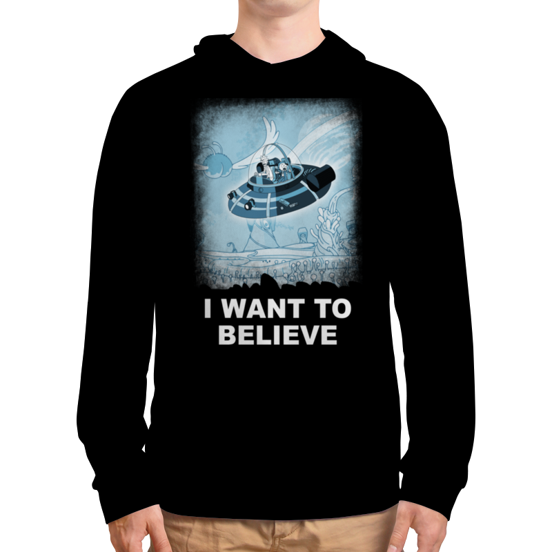 Толстовка с полной запечаткой Printio I want to believe. рик и морти плакат a3 29 7x42 printio i want to believe рик и морти