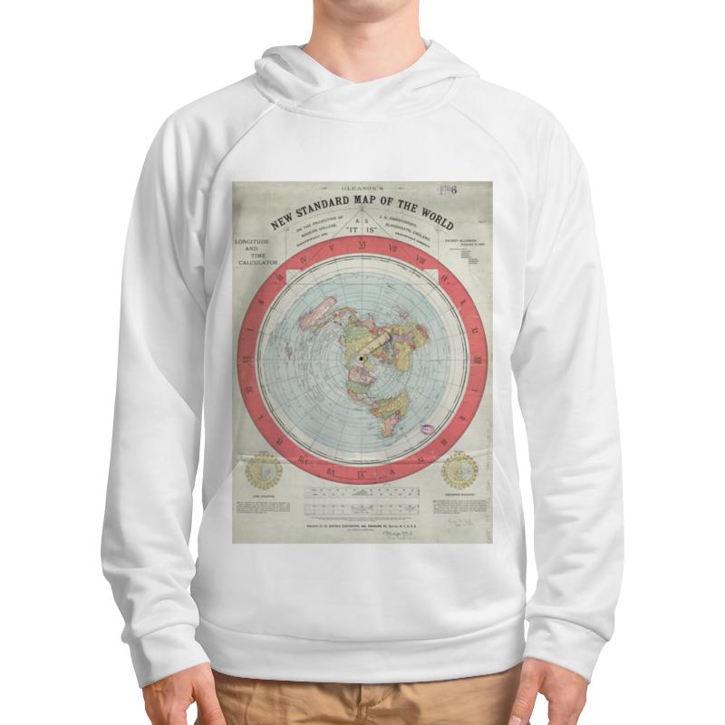 Толстовка с полной запечаткой Printio Карта плоской земли