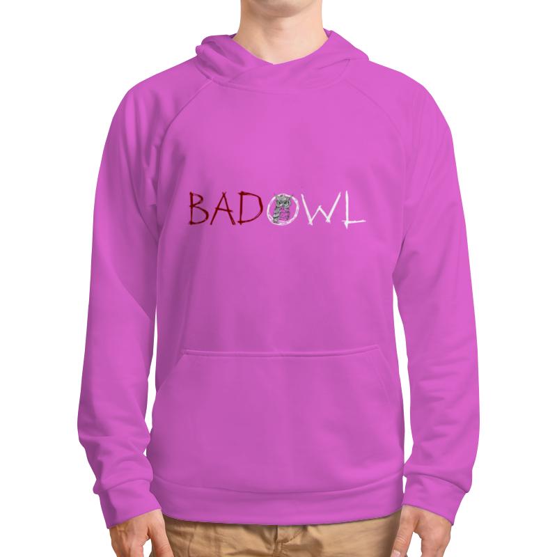 Толстовка с полной запечаткой Printio Bad owl - purple pink