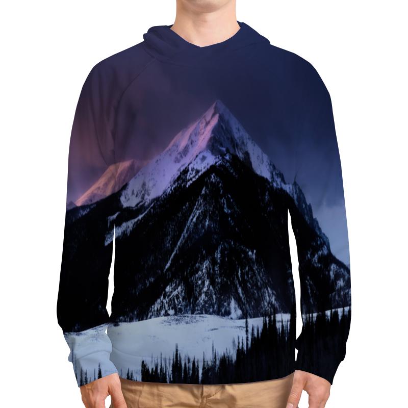 Толстовка с полной запечаткой Printio Снежная гора подушка 40х40 с полной запечаткой printio снежная гора