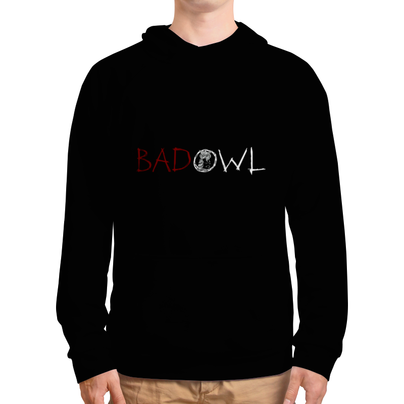 Толстовка с полной запечаткой Printio Bad owl - full black black owl стул black owl