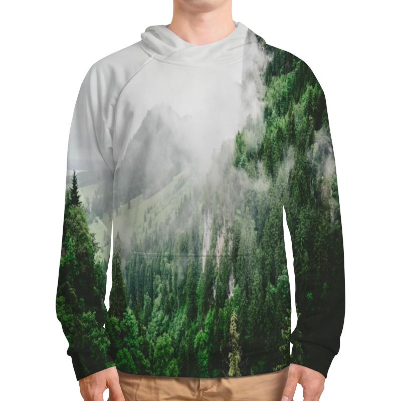 Толстовка с полной запечаткой Printio Туманные горы платье летнее printio туманные горы