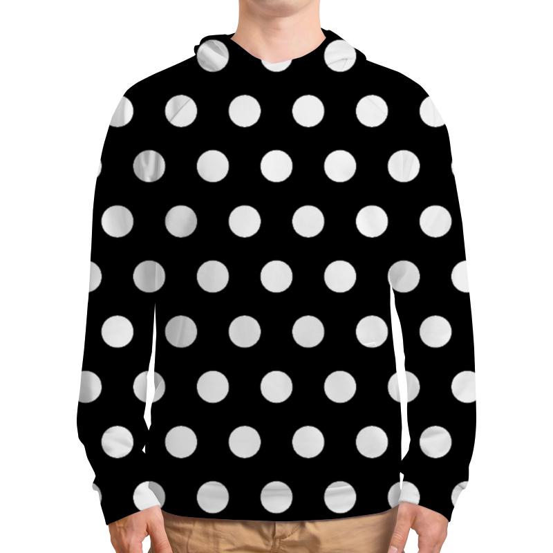 Толстовка с полной запечаткой Printio Белый горох на чёрном фоне юбка карандаш укороченная printio белый горох