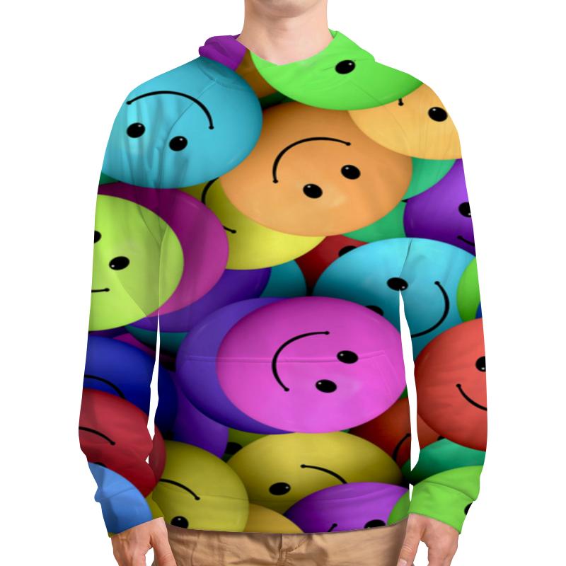 Фото - Толстовка с полной запечаткой Printio Цветные смайлики поднимающие настроение. футболка с полной запечаткой женская printio смайлики