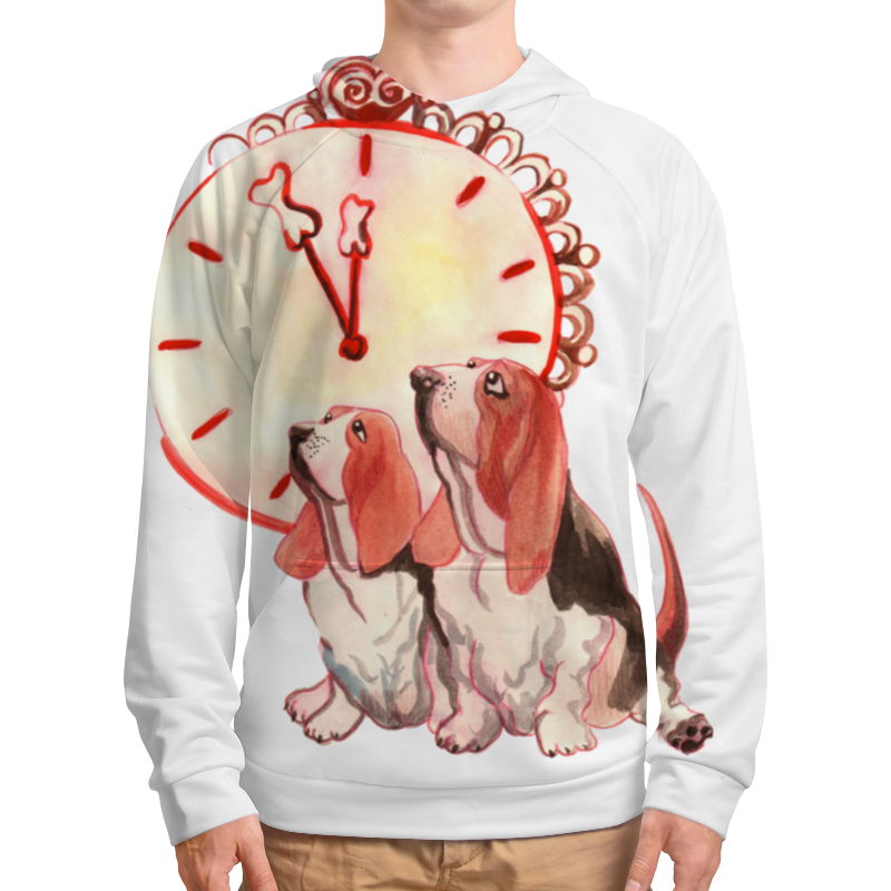 Фото - Толстовка с полной запечаткой Printio Новогодние акварельные собаки футболка рингер printio новогодние акварельные собаки