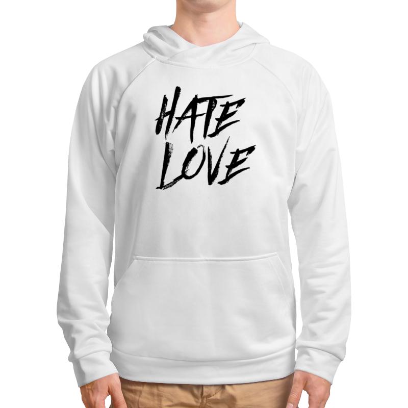 Толстовка с полной запечаткой Printio Рэпер face hate love кепка printio рэпер face hate love