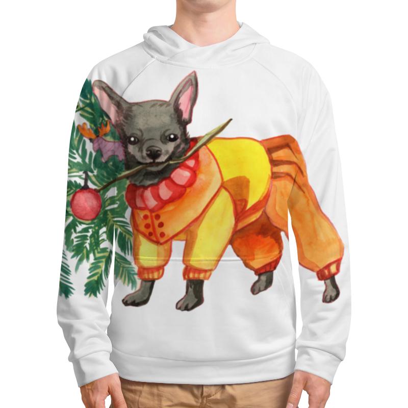 Толстовка с полной запечаткой Printio Акварельная новогодняя забавная собака свитшот унисекс с полной запечаткой printio акварельная новогодняя забавная собака