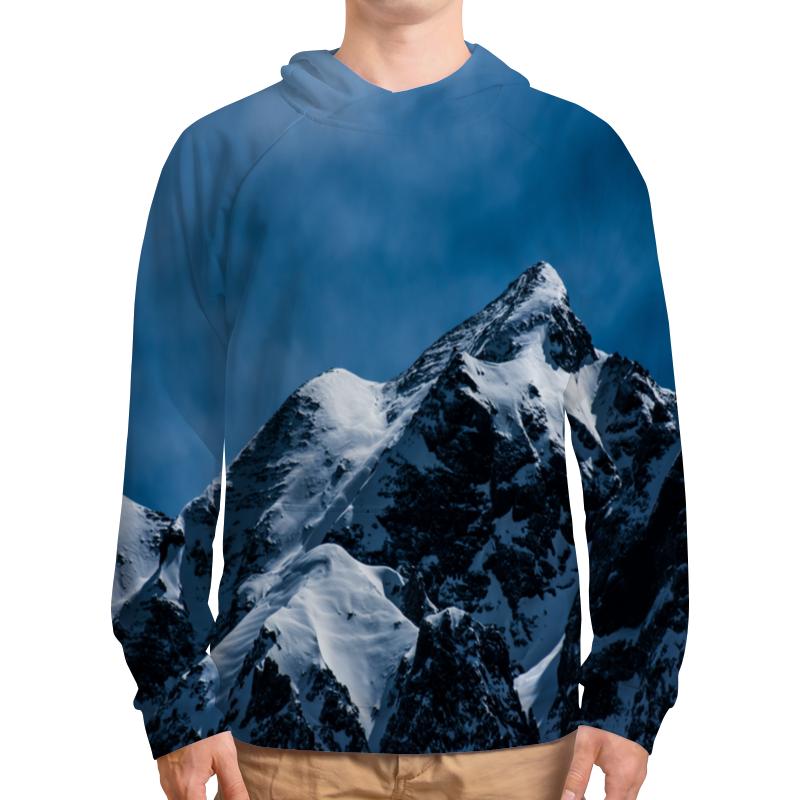 Толстовка с полной запечаткой Printio Снег в горах толстовка с полной запечаткой printio елки в горах