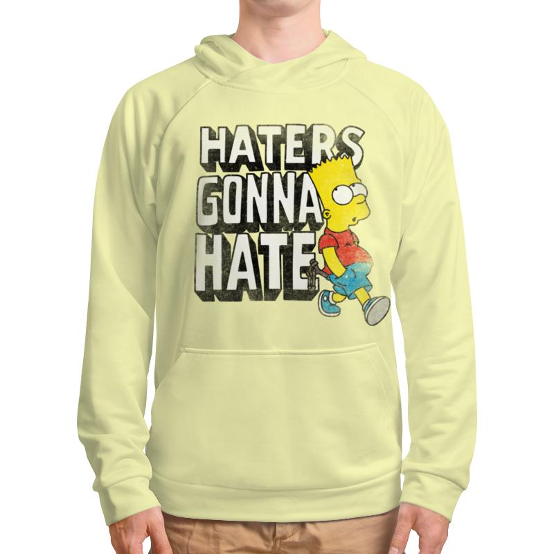 Толстовка с полной запечаткой Printio Haters gonna hate. барт симпсон толстовка hate hate cat черный s