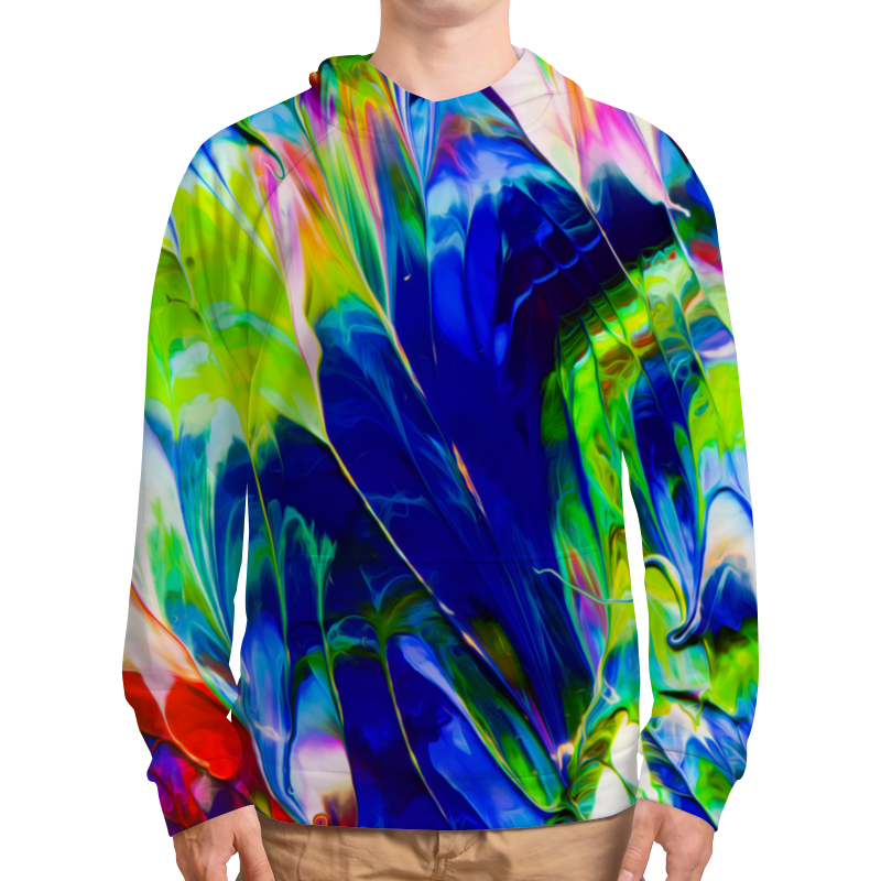 Фото - Толстовка с полной запечаткой Printio Переливы красок толстовка с полной запечаткой printio буря красок