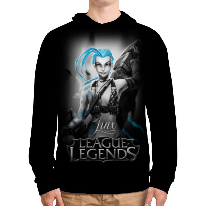 Толстовка с полной запечаткой Printio League of legends. джинкс