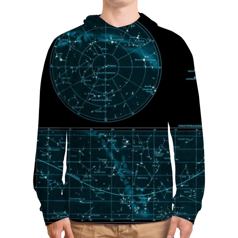 Толстовка с полной запечаткой Printio Карта звёздного неба свитшот унисекс с полной запечаткой printio карта звёздного неба