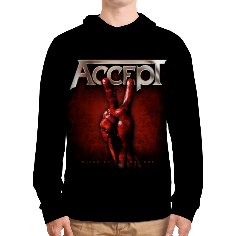 Толстовка с полной запечаткой Printio Accept accept accept blind rage limited edition cd blu ray dvd 2 lp