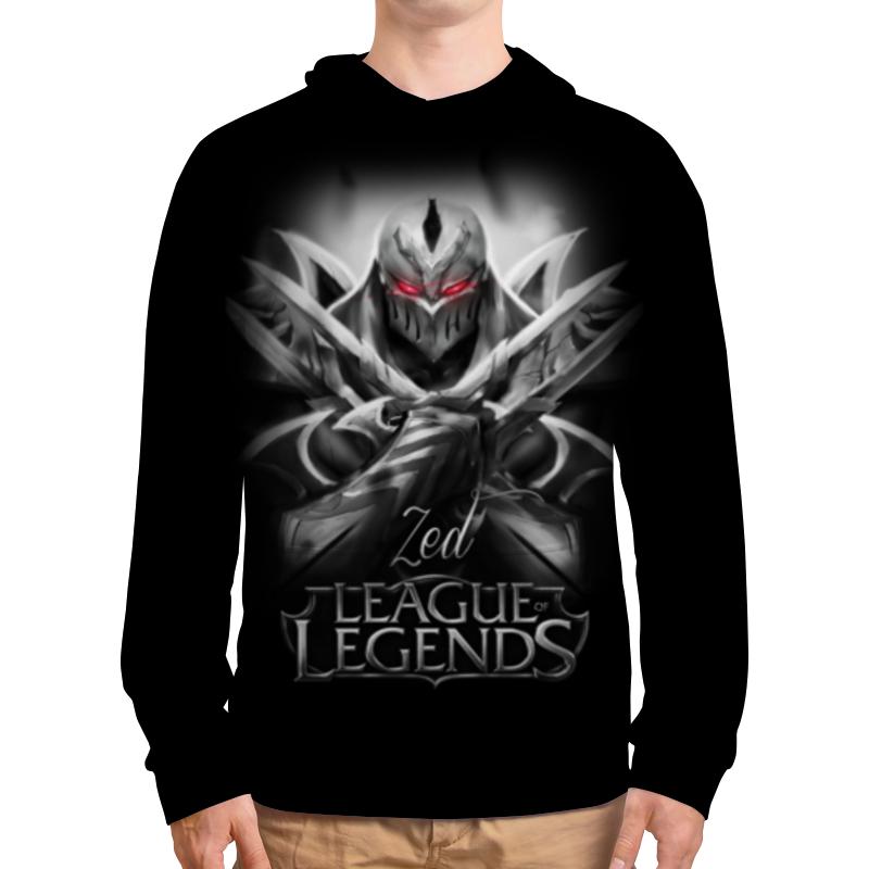 Толстовка с полной запечаткой Printio league of legends. зед свитшот мужской с полной запечаткой printio league of legends
