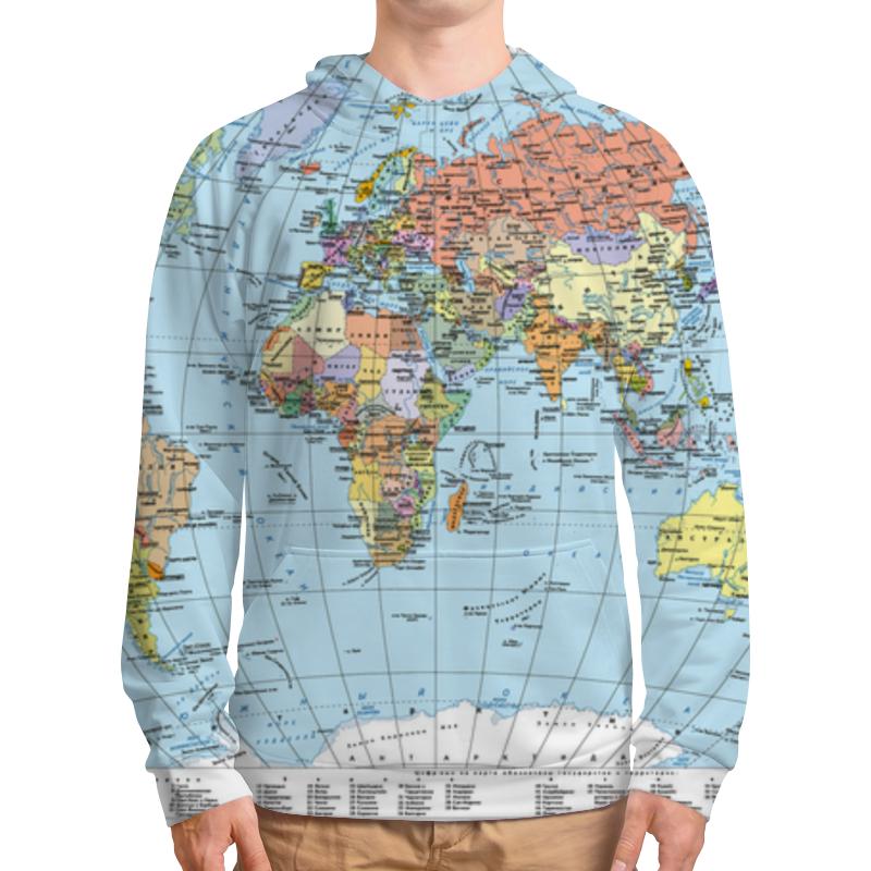 Толстовка с полной запечаткой Printio Карта мира политическая карта мира