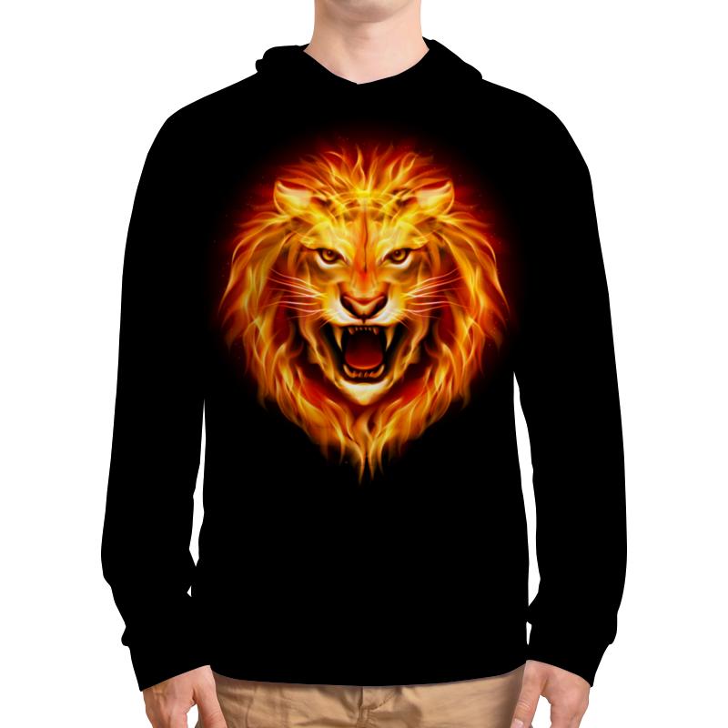 Толстовка  полной запечаткой Printio Огненный лев