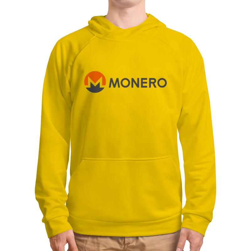 Толстовка с полной запечаткой Printio Miner - monero yellow мужчины цветочные печатный толстовки толстовка с капюшоном