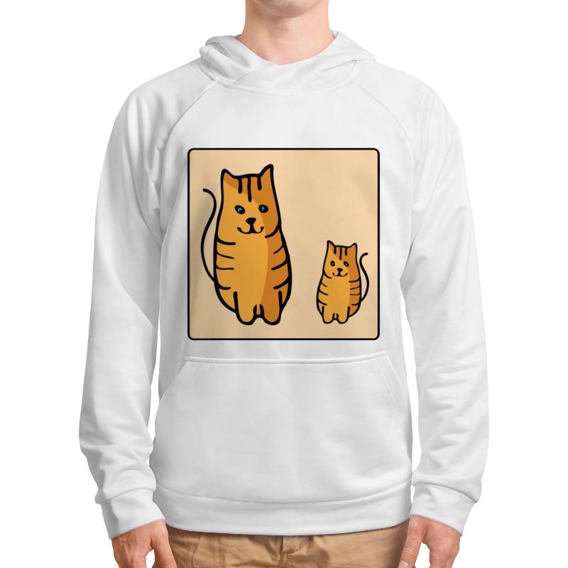 Толстовка с полной запечаткой Printio Два котика, смотрящие друг на друга неизвестный друг