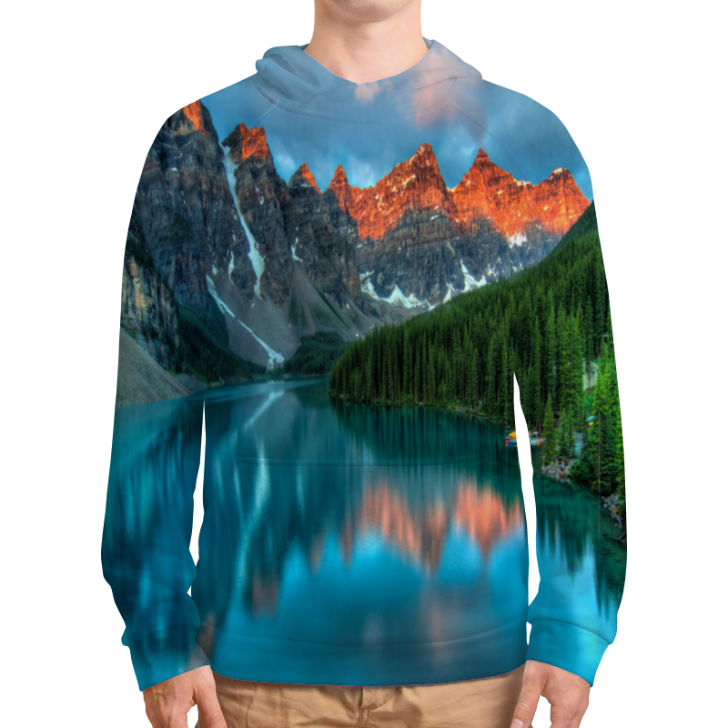 Толстовка с полной запечаткой Printio Горы у озера толстовка с полной запечаткой printio горы у берега
