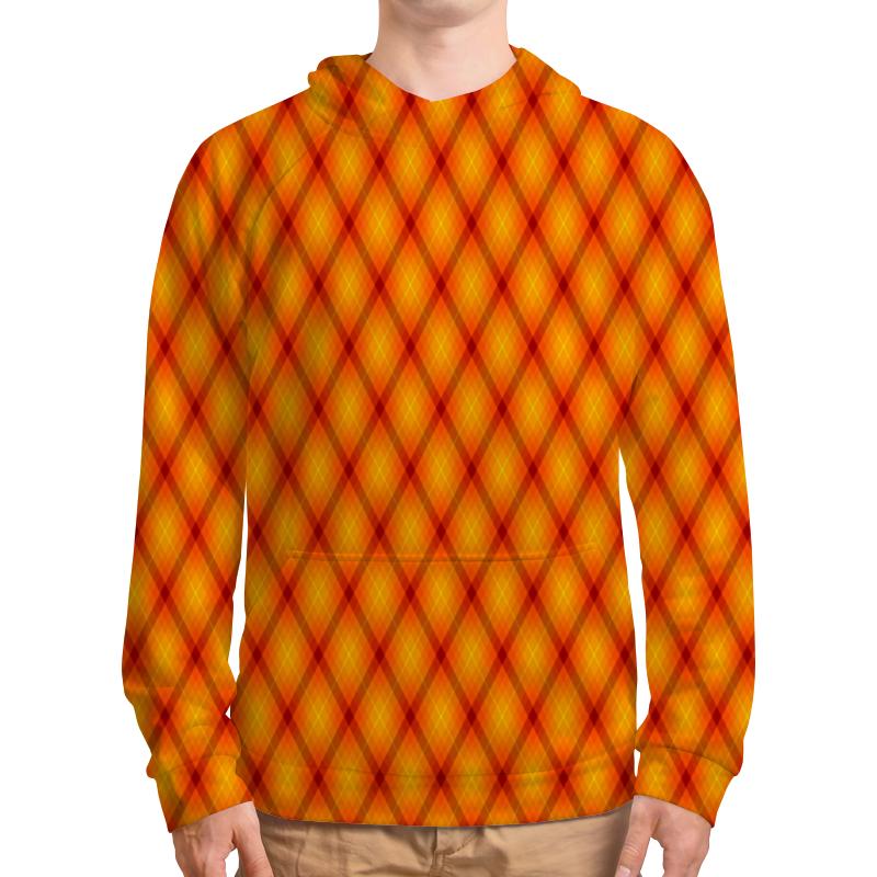 Толстовка с полной запечаткой Printio Клетка оранжевая облепиха оранжевая сила муж 1 жен 1