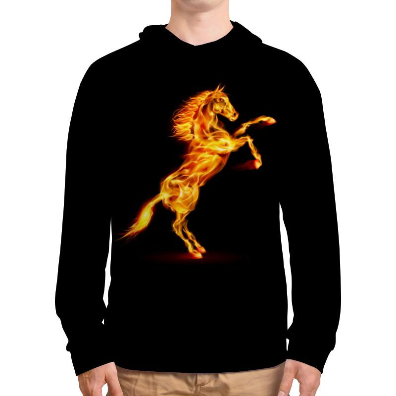 Толстовка с полной запечаткой Printio Огненная лошадь футболка с полной запечаткой мужская printio огненная лошадь