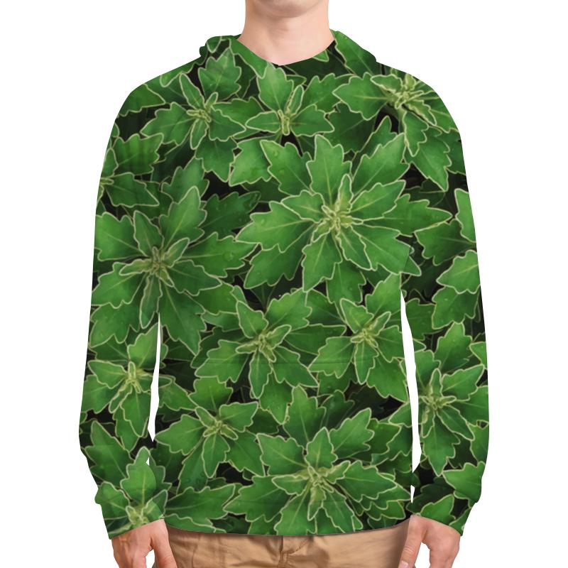 Толстовка с полной запечаткой Printio Зеленые листья derbe мыло белые цветы и зеленые листья 100 г