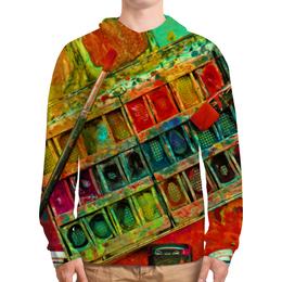 """Толстовка с полной запечаткой (Мужская) """"""""Акварельные краски"""""""" - искусство, разноцветный, акварель, художник, пестрый"""