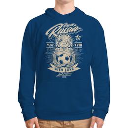 """Толстовка с полной запечаткой """"Футбол"""" - футбол, спорт, матрёшка"""