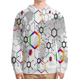"""Толстовка с полной запечаткой """"Формула"""" - узор, текстура, формула, химия, молекулы"""