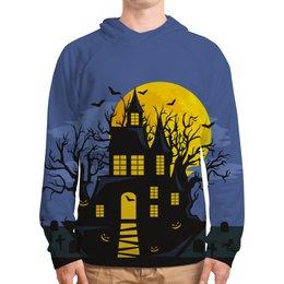 "Толстовка с полной запечаткой ""Хэллоуин"" - хэллоуин, тыква, летучая мышь"