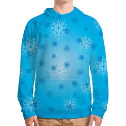 """Толстовка с полной запечаткой """"Снежинка"""" - праздник, новый год, зима, снег, снежинка"""