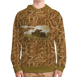"""Толстовка с полной запечаткой """"Танки"""" - камуфляж, танк, милитари, военные, патрон"""
