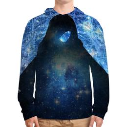 """Толстовка с полной запечаткой """"""""Звездный маг"""""""" - черное, звезды, космос, синий, магия"""