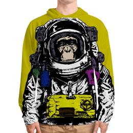 """Толстовка с полной запечаткой (Мужская) """"Обезьяна космонавт"""" - космос, обезьяна, звездные войны, космонавт, скафандр"""