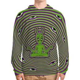 """Толстовка с полной запечаткой """"Alien"""" - alien, инопланетянин, psy, психоделика, ufo"""