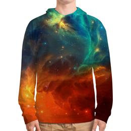 """Толстовка с полной запечаткой (Мужская) """"Космическая туманность"""" - космос, фотография, звёзды, спутник, туманность"""