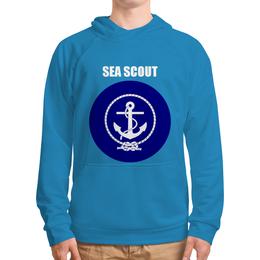 """Толстовка с полной запечаткой (Мужская) """"Морской разведчик"""" - море, якорь, канат, разведчик"""