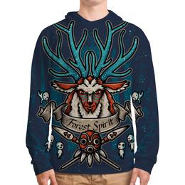 """Толстовка с полной запечаткой """"Forest Spirit. Лесной Дух"""" - рисунок, олень, фэнтэзи, лесной дух"""