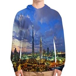 """Толстовка с полной запечаткой """"Big City """" - страны, ночь, города, world, мегаполис"""
