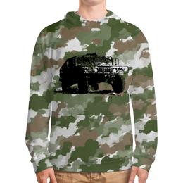 """Толстовка с полной запечаткой """"Hummer"""" - милитари, jeep, внедорожник, джип, футболка с авто"""