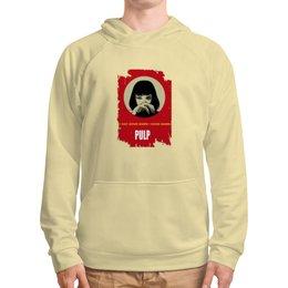 """Толстовка с полной запечаткой """"Pulp Fiction (Ума Турман)"""" - ума турман, тарантино, криминальное чтиво, pulp fiction, культовое кино"""