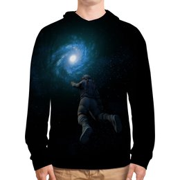 """Толстовка с полной запечаткой """"Космонавт """" - звезды, космос, ночь, небо, космонавт"""