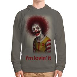 """Толстовка с полной запечаткой """"Макдональдс - Я люблю это"""" - череп, зомби, макдональдс, mcdonalds, злой клоун"""