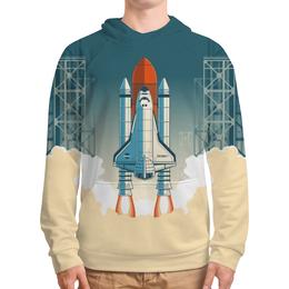 """Толстовка с полной запечаткой """"Покорение космоса"""" - космос, ракета, астрономия, шатл, the spaceway"""
