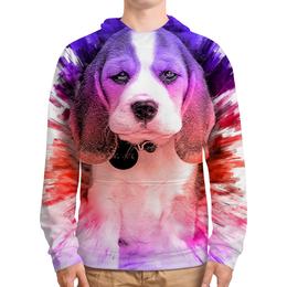 """Толстовка с полной запечаткой """"Dogs love art"""" - арт, щенок, собака, подарок"""