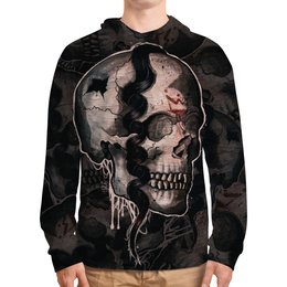 """Толстовка с полной запечаткой """"Skull"""" - череп, ужас, тьма"""